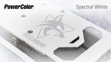 Backplate of the PowerColor Spectral White Hellhound