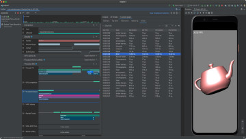Screenshots from Android Studio 42