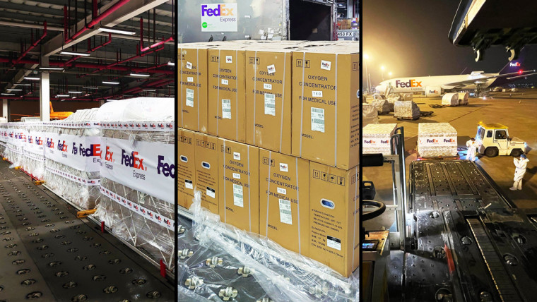 Microsoft sending medical supplies to India