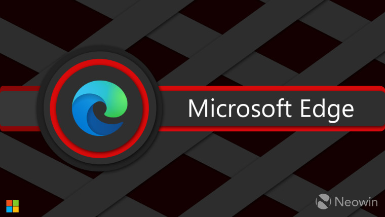 Microsoft Edge logo and Microsoft Edge written next to it with a red outline