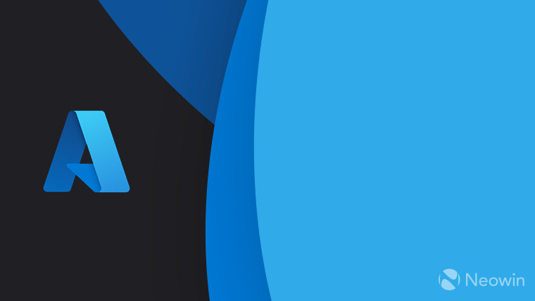Azure logo new - full color - on dark grey background