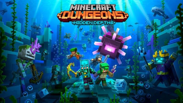 Minecraft Dungeons Hidden Depths DLC artwork