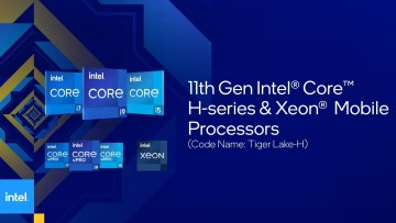 Graphic representing the new Intel Core H-series including new vPro and Xeon models