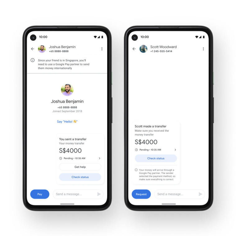 The remittance feature in Google Pay