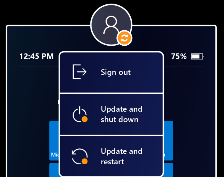 Windows Holographic 21H1 power menu with options on a HoloLens