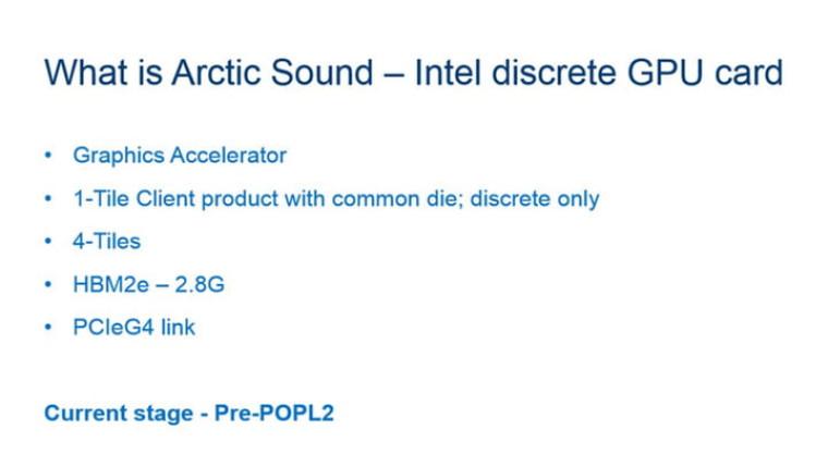 Leaked Intel Arctic Sound specfications