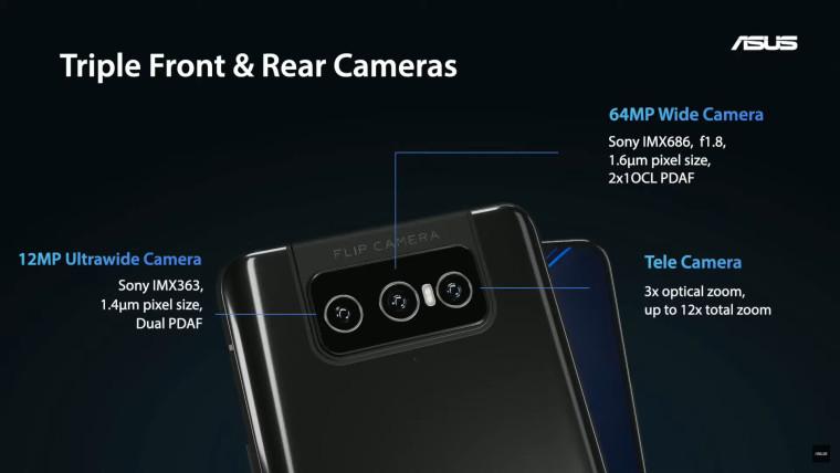 ASUS Zenfone 8 Flip camera features