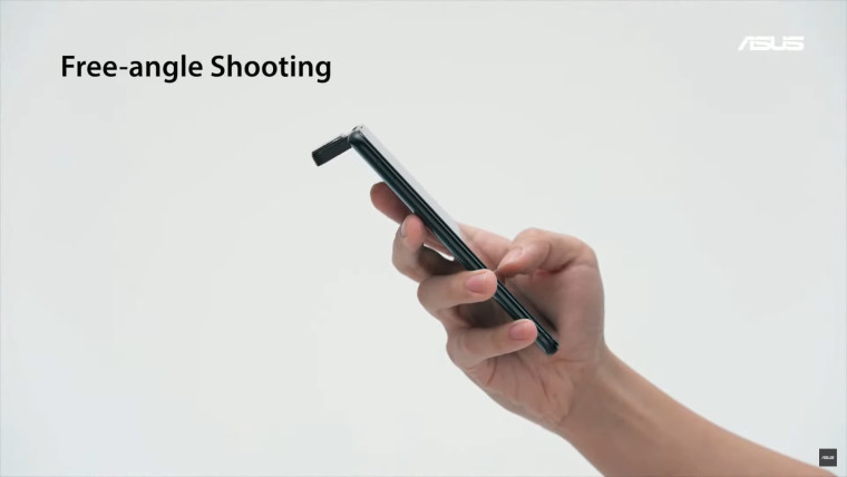 ASUS Zenfone 8 Flip phones rotating camera module with free-angle shooting written