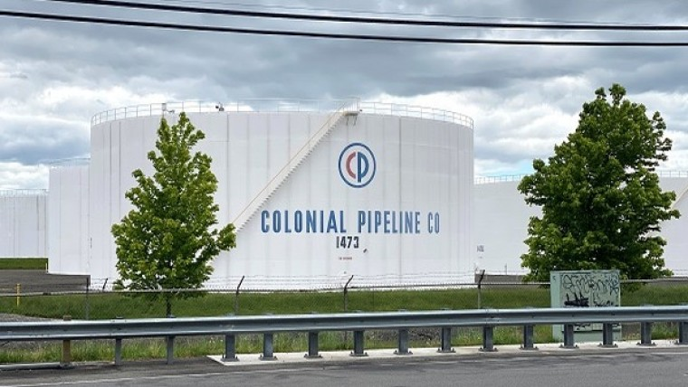 A Colonial Pipeline building in a field