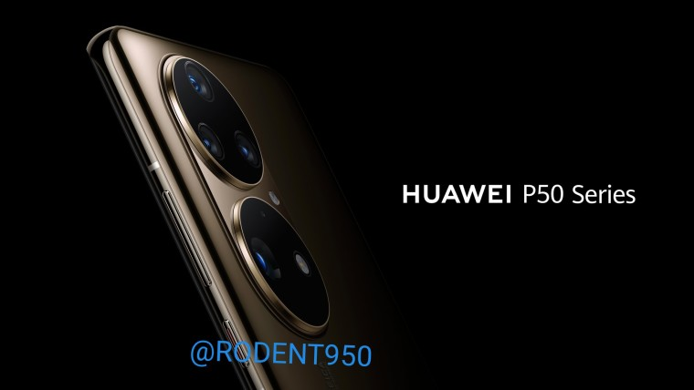 Purported official render of the Huawei P50 showing off its camera bump