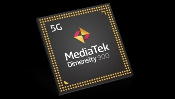Product render of the MediaTek Dimensity 900 chipset
