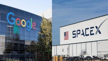 google and space x logo