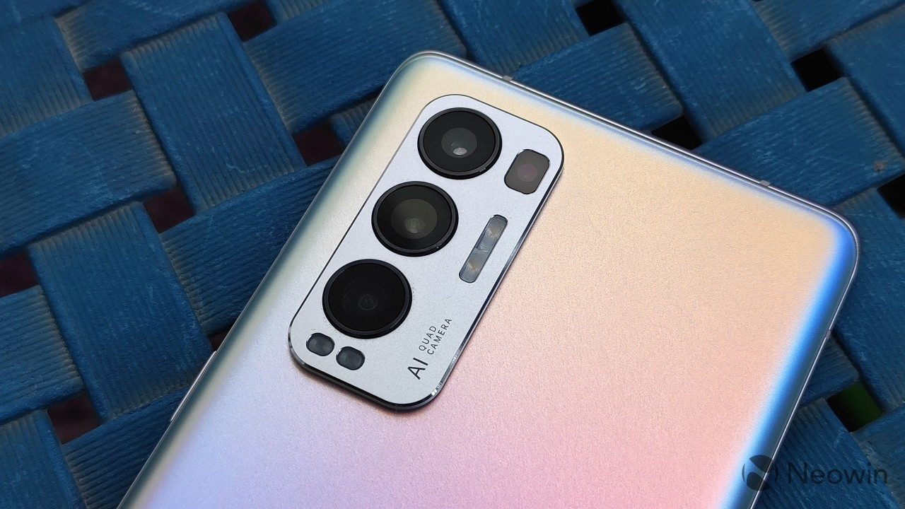 The rear camera setup on the OPPO Find X3 Neo