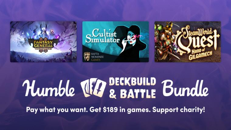 Humble Deckbuild and Battle Bundle promo