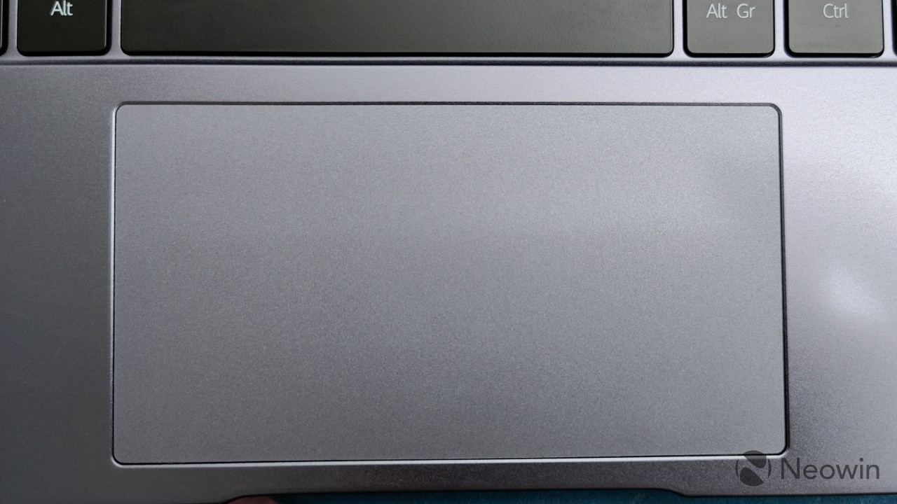 Close-up of the trackpad on the Honor MagicBook 14