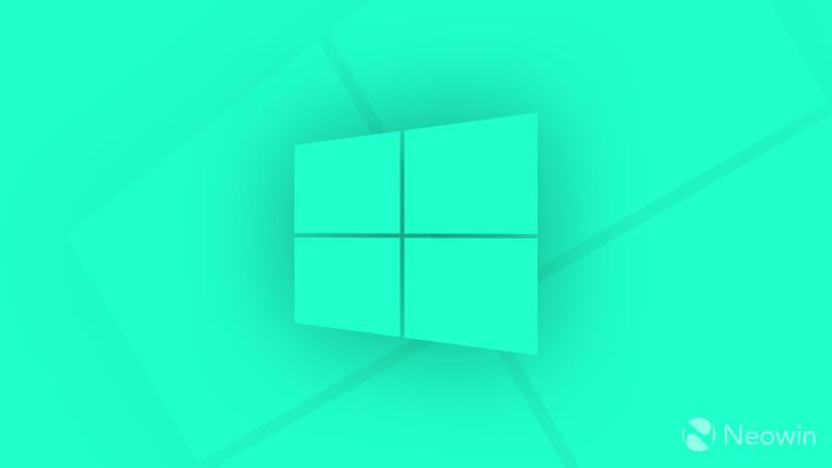 Windows Logo teal on teal background
