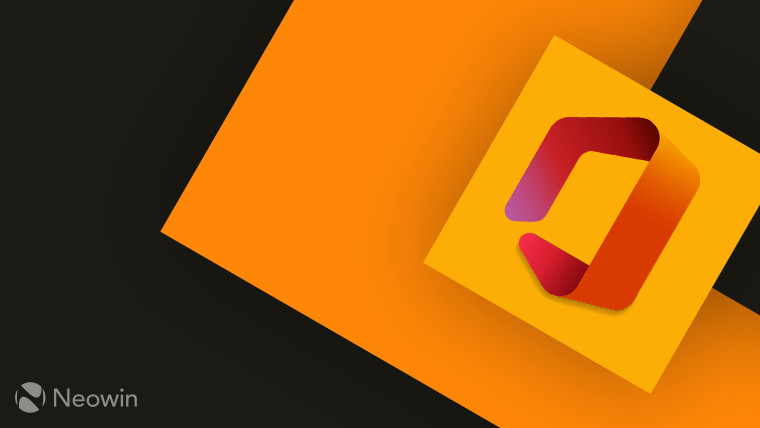 Microsoft Office logo full color on yellow background