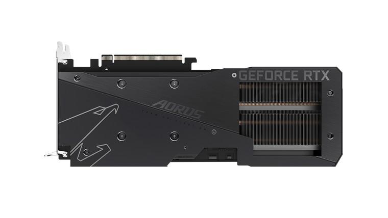 Aorus Elite RTX 3060 Rev 2 back view