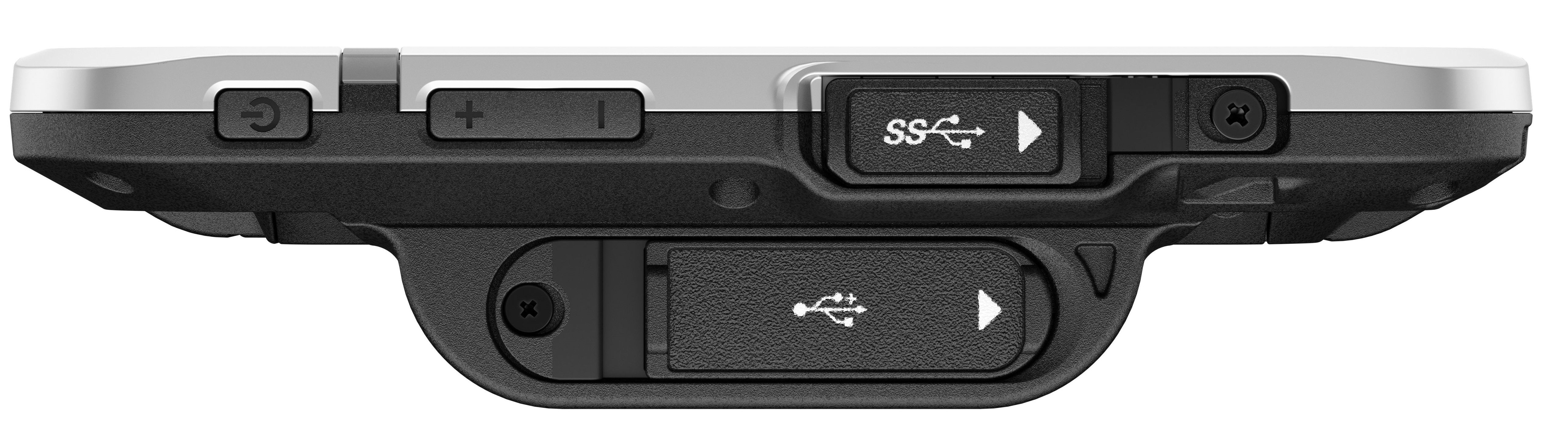 Side view of the Toughbook S1 showing the optional USB Type-A port