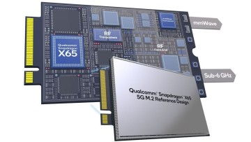 A Snapdragon X65 5G RF-modem in an M2 reference design