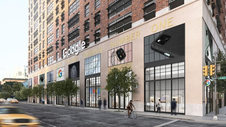 A simulation of the the Google Store in New York City will look like