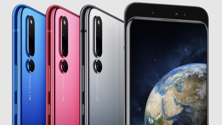 Honor Magic 2 in blue pink and grey colors
