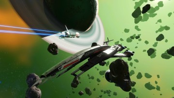 Mass Effects Normandy in No Mans Sky