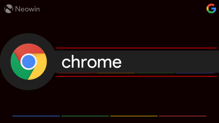 Google chrome logo and Chrome written next to it
