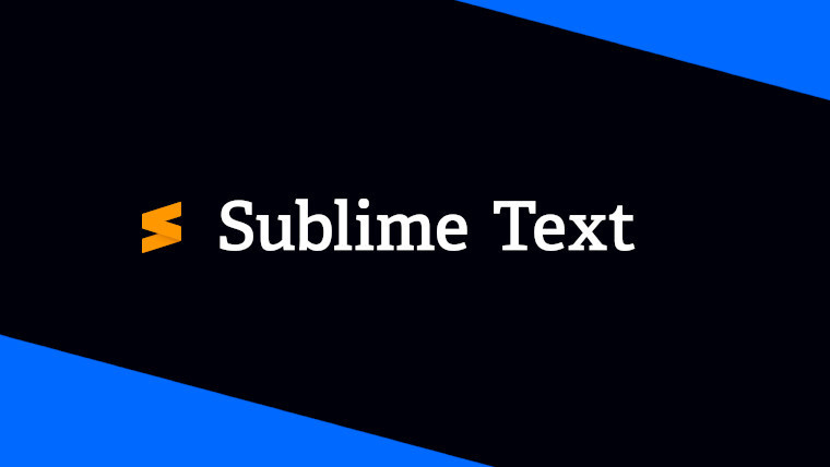 The Sublime Text logo on a black and blue background