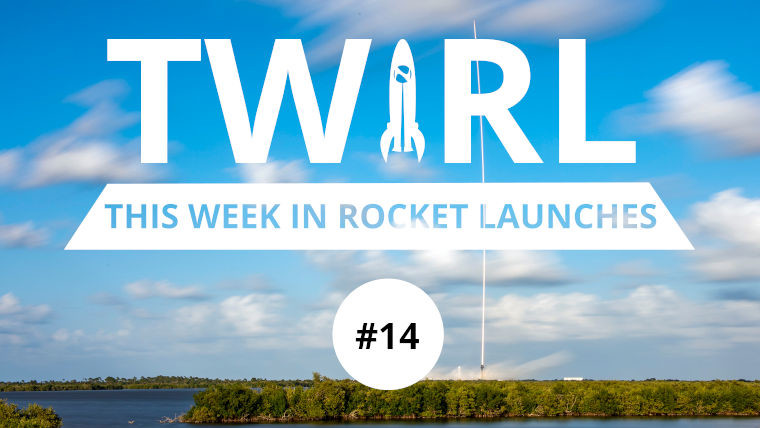 The Falcon 9 carrying Starlink satellites and the TWIRL logo
