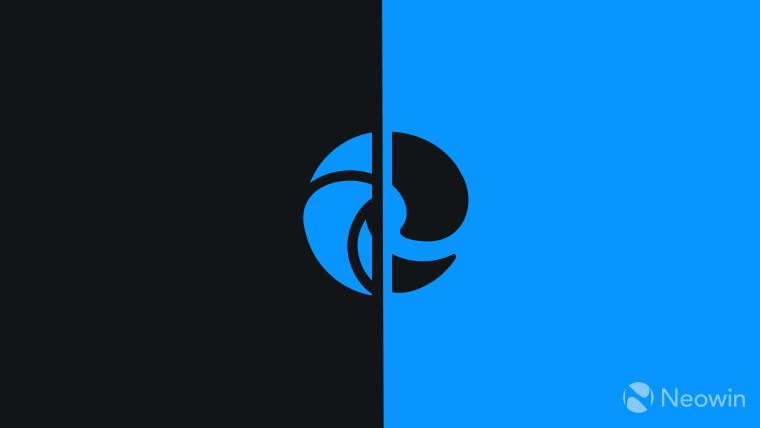 Microsoft Edge logo monochrome on dark background