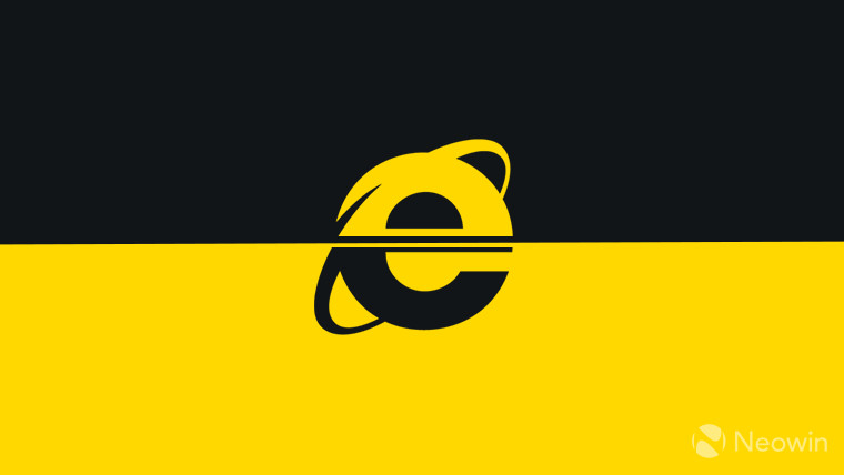 Internet Explorer logo monochrome on dark background