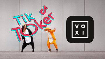The VOXI logo next to TikTok graffiti
