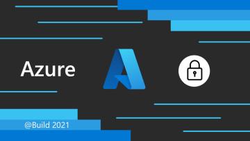Azure logo on dark background with horizontal and slanted blue lines