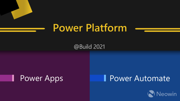Power Platform text on top Power Apps and Power Automate at the bottom