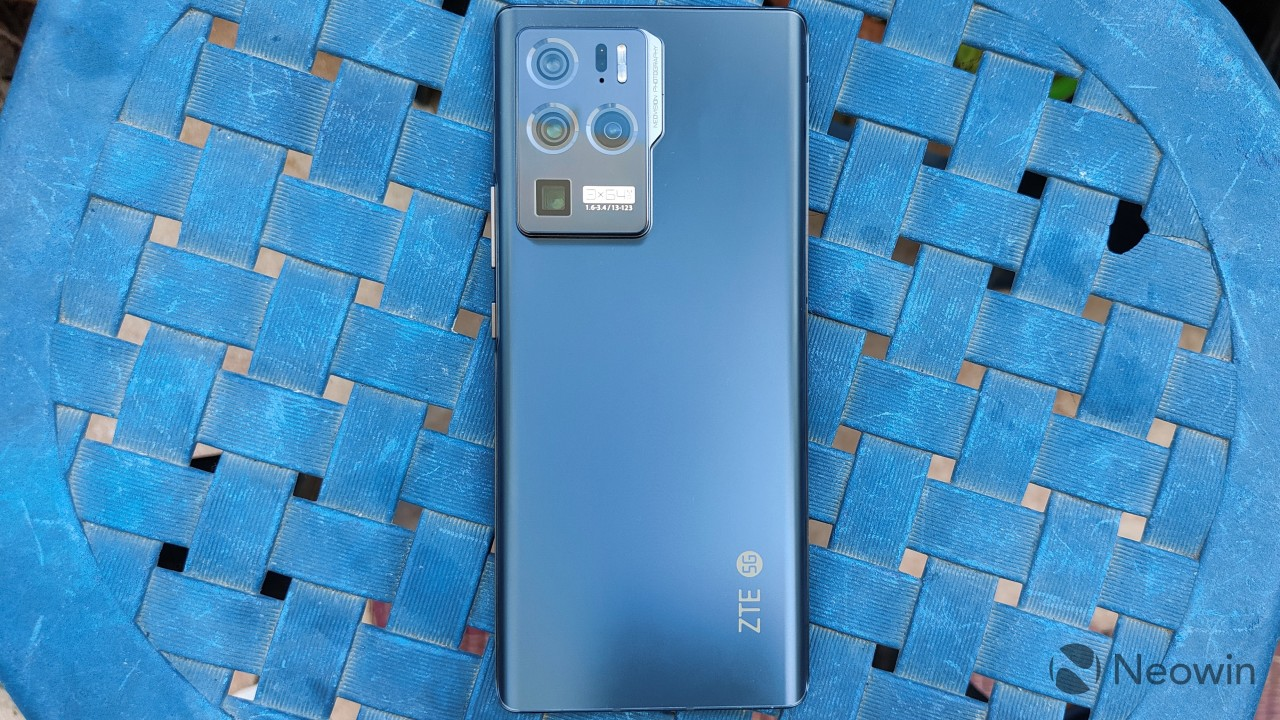 Overhead view of the back of the ZTE Axon 30 Ultra