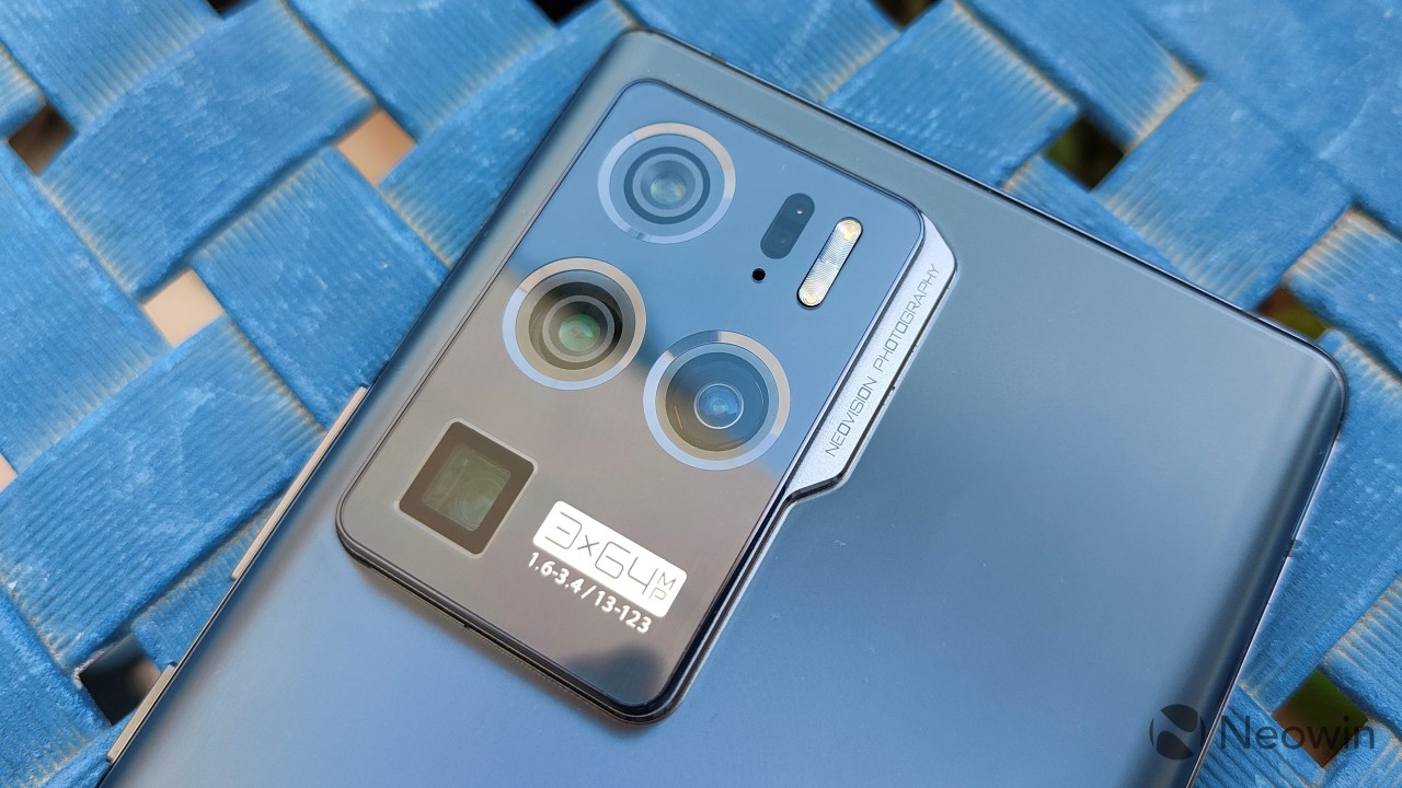 Close-up of the rear camera setup on the ZTE Axon 30 Ultra