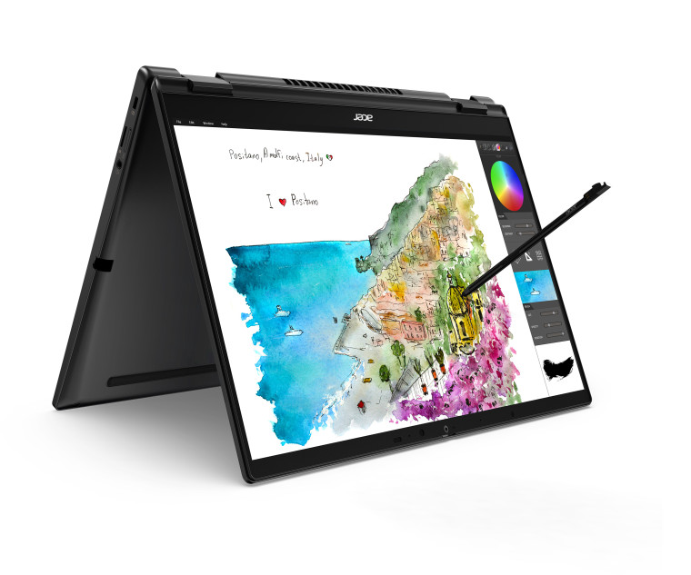 Acer TravelMate Spin P6 convertible with a 14-inch display that has a 360 degree hinge