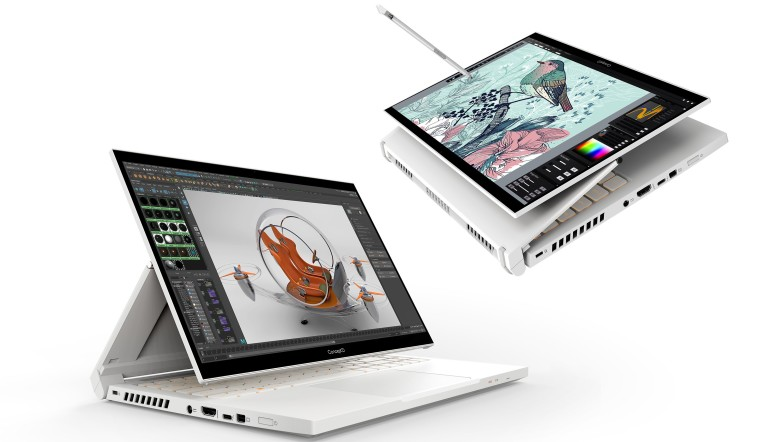 Acer ConceptD 3 Ezel product renders in different positions