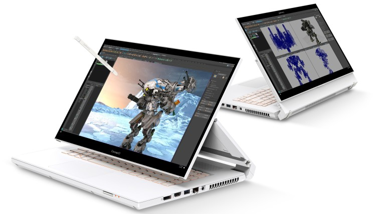 Acer ConceptD 7 Ezel in different positions