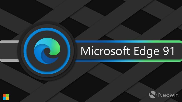 Microsoft Edge 91 written next to the Edge logo