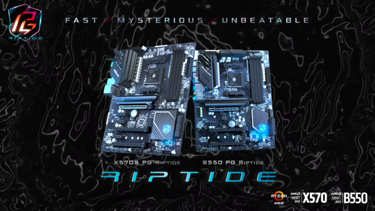 Renders of ASRock Phantom Gaming Riptide X570S and B550 motherboards
