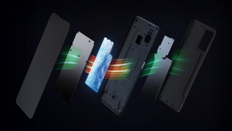 Realme X7 Max 5G vapor colling