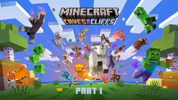 Minecraft caves and cliffs Part I artwork
