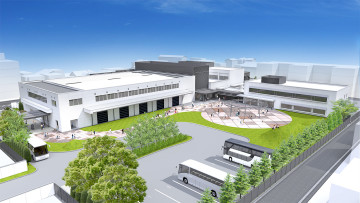Render of the future Nintendo Gallery located in the city of Uji in Japan
