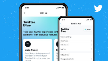 Twitter Blue sign up page on mobile