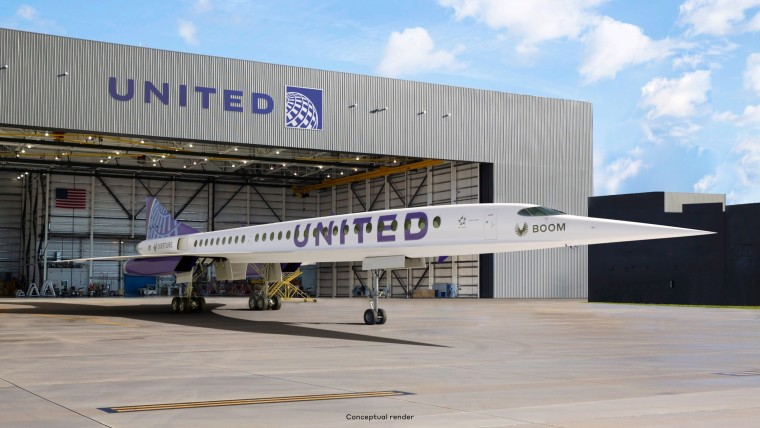 united airlines boom supersonic