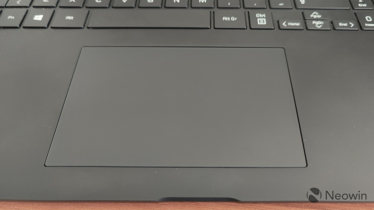 The trackpad on the LG gram 16