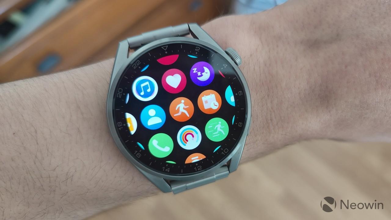 Huawei Watch 3 Pro app grid