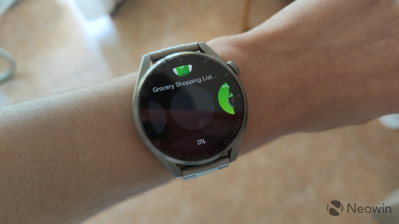 Huawei Watch 3 Pro attempting to install an app from the AppGallery